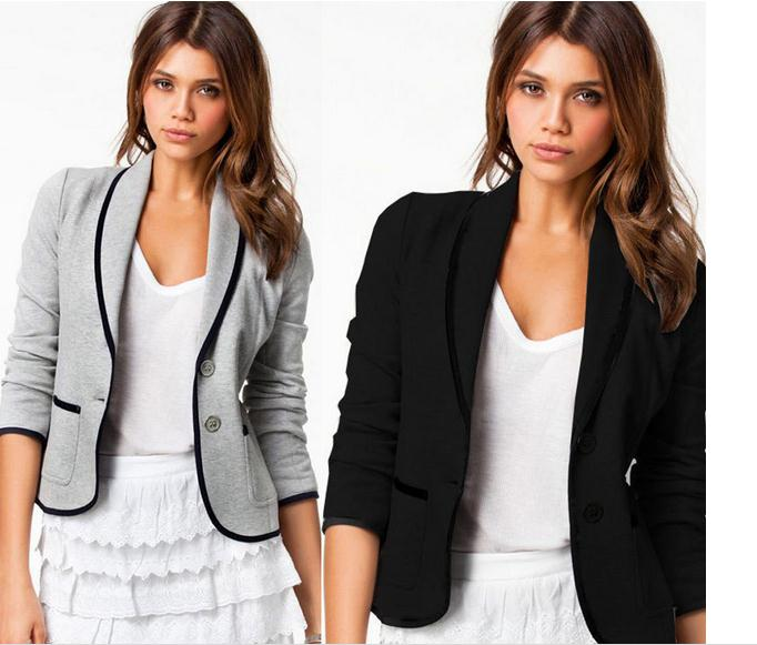 British spring and autumn brand womens casual small suit jacket fashion short section of a small suit womens Commute work suit