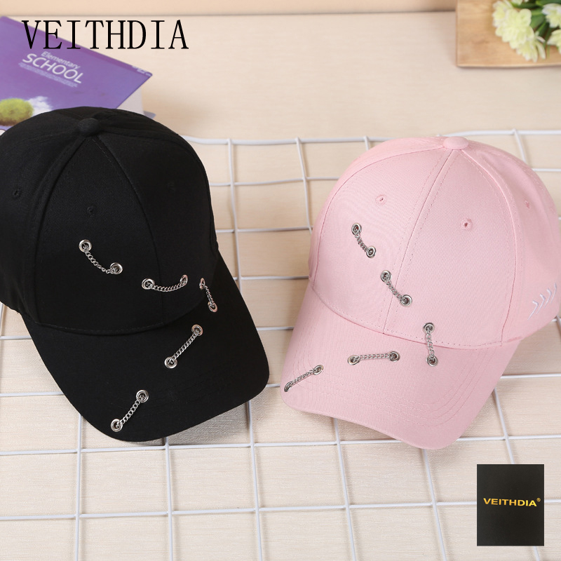 VEITHDIA fashion chain baseball cap Korean wild street cap cap men and women influx of people summer curved cane hip hop hat 2016 new korean children s pirate ship level for men and women baby embroidered baseball cap along the fringes of hip hop hat