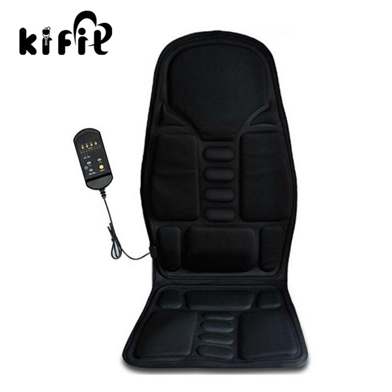 KIFIT 12V Car Massage Heated Seat Cushion Back Neck Pain Lumbar Massager Vibration Pad Massage Health Care Tool biety vehicle car seat head neck rest cushion pillows grey 2pcs