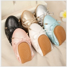New Women Ballet Flats Genuine Leather neri Loafers Bling Silver Round Toe Glossy Women Flats Shoes Ballerina Flat Shoes Women
