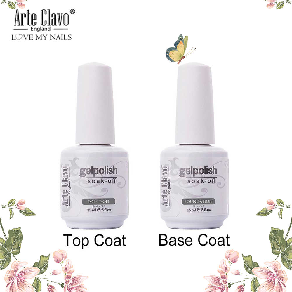 15 Ml Tidak Ada Lap Top Coat Primer Base Coat Gel Nail Polish Rendam Off Gel Varnish UV LED Nail Gel pernis Tahan Lama