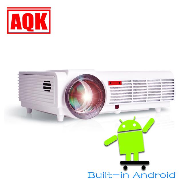 2016 LED96 Wifi Android proyector WiFi Inteligente LED 96 Proyector 5500lms 1080 P de vídeo de cine en Casa 3D Full HD Proyector LCD para reunión