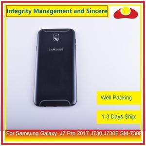 Image 4 - Original Für Samsung Galaxy J7 Pro 2017 J730 J730F SM 730F Gehäuse Batterie Tür Rahmen Zurück Abdeckung Fall Chassis Shell