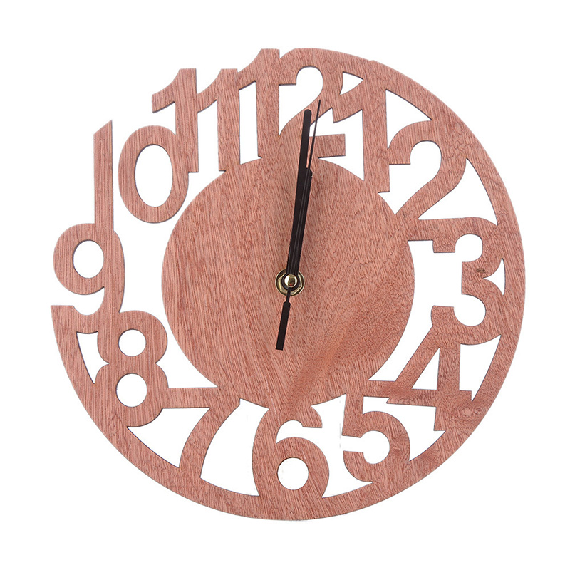 Simple Fashion Round Wall Clock Wood Life  Retro Wall Clocks Home Decorate Watch For Living Room Bedroom Office Decoration