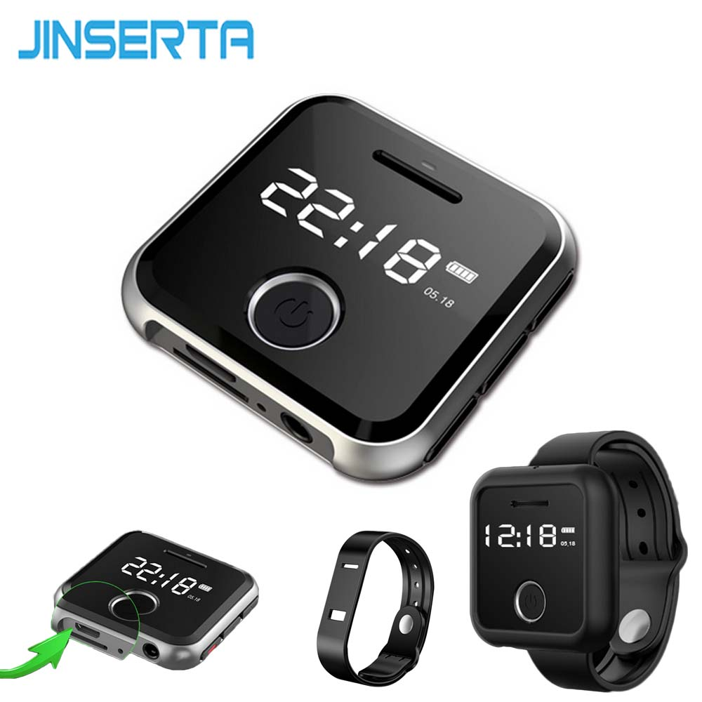 JINSERTA Mini Clip Sport Mp3 Player Multiformat Music Players Voice Recorder Durable MP3 player HIFI mp3 Player USB Charging