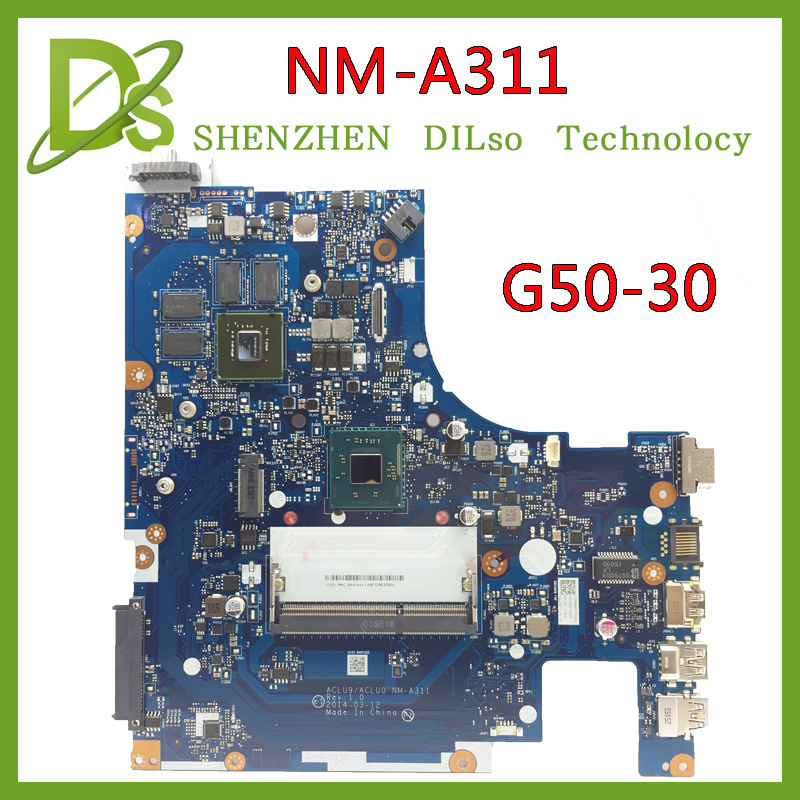 SHUOHU NM-A311 for Lenovo ACLU9 / ACLU0 NM-A311 MAIN BOARD For Lenovo G50 G50-30 Laptop Motherboard DDR3 with Processor 100% tes big togo main circuit board motherboard pcb repair parts for nikon d610 slr