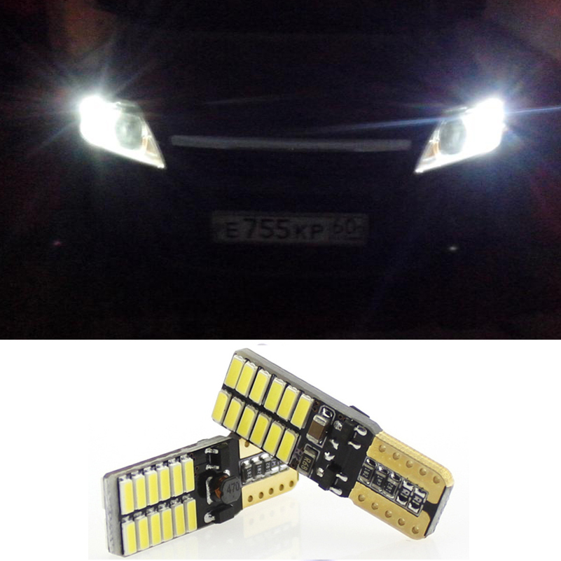 2X Canbus T10 W5W LED 24 SMD Clearance Bulbs Parking Light For Kia Rio K2 3 Ceed Sportage Sorento Cerato Soul Picanto K3 Optima deechooll 2pcs wedge light for mazda 2 3 5 6 mx5 rx8 cx7 626 gf gg ge gw canbus t10 57smd 6w led clearance xenon lighting bulbs
