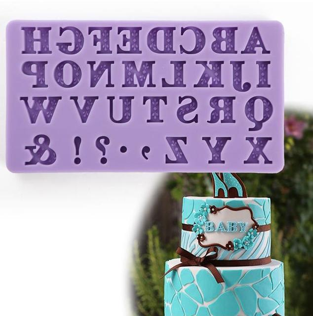 New Alphabet Letter Silicone Cutter Molds Mini Size 3D Fondant