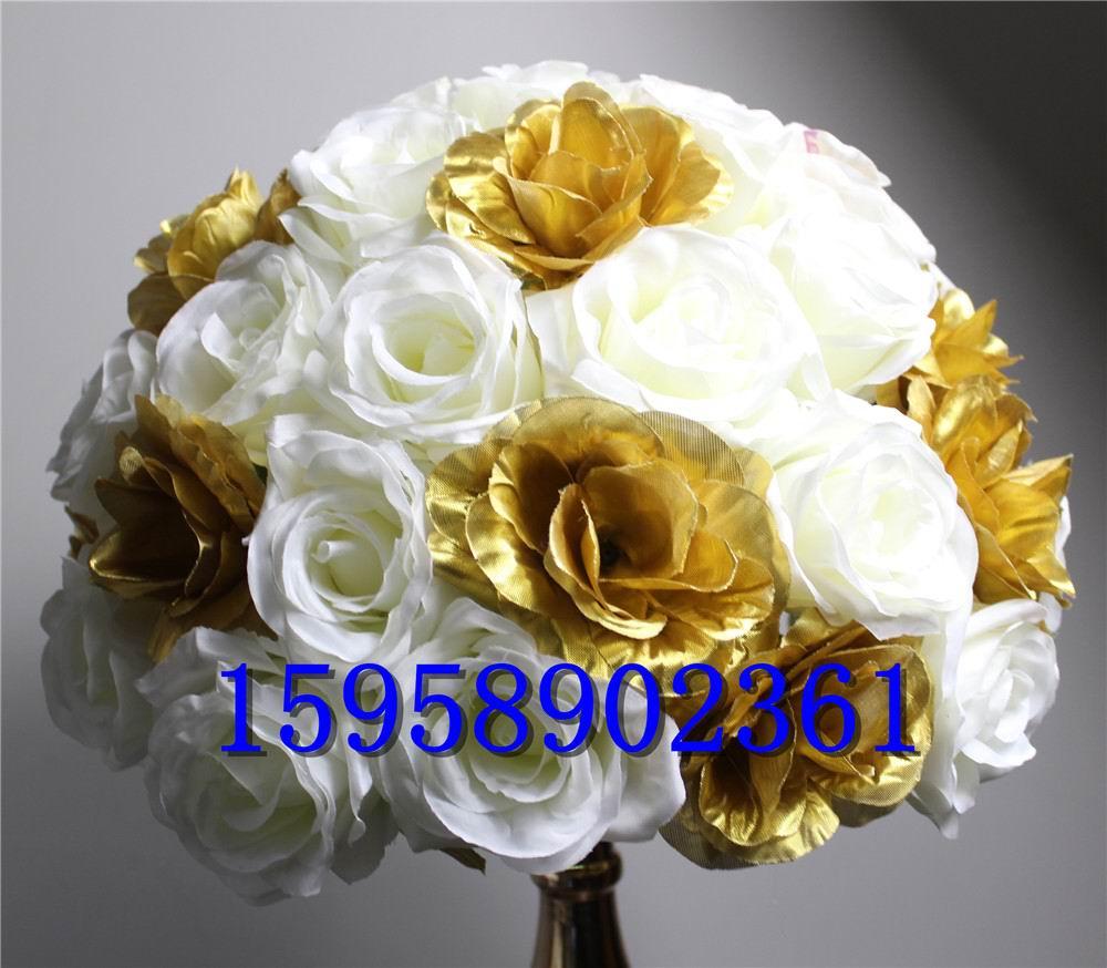 NOVINKA! 12cm pěna-10ks / lot svatební cesta olovo umělý květ koule svatební stůl květiny vrchol koule koule decoratio