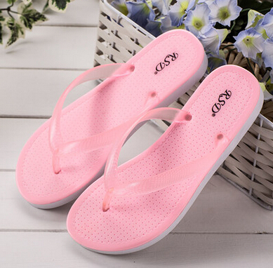 2017 Women S Beach Flip Flops Flat Slip Resistant Plastic Bathroom Slippers Candy In Sandals From Shoes On Aliexpress Alibaba Group