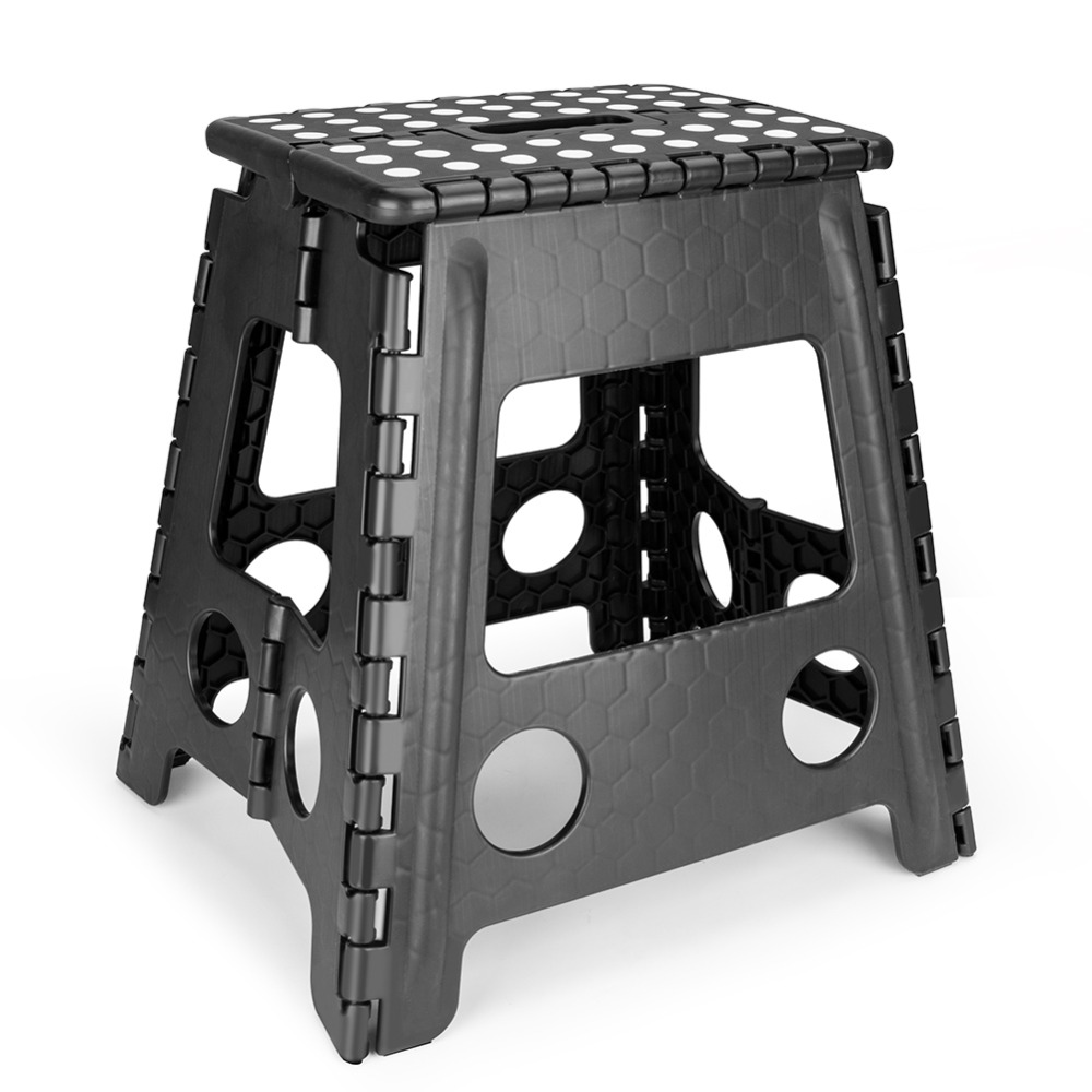 Folding Step Stool Adult Kids Kitchen Plastic Carrying Handle Portable Chair Anti-slip Bathroom Stool Travel Outdoor Camping