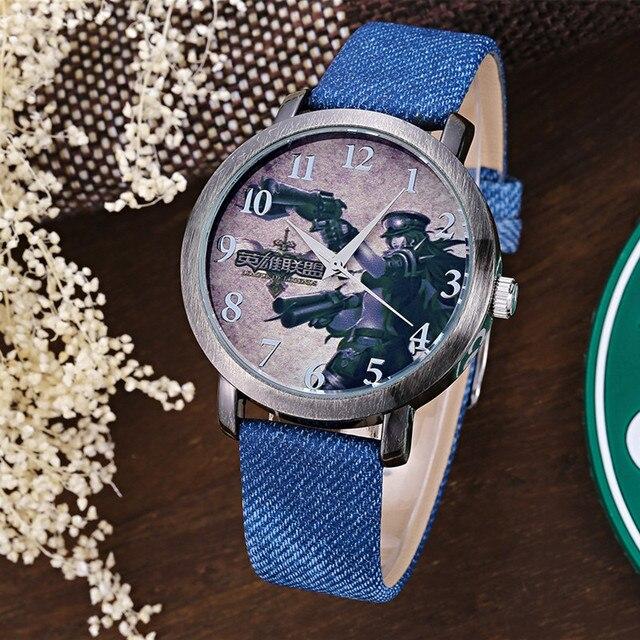 TOP Quality games LOL Cartoon Watch KEZZI Fashion Quartz Watches for Girl Boy Kids Children Wristwatches Gift k1095