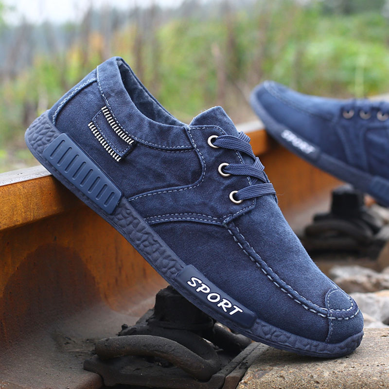 CBJSHO New Fashion Canvas Shoes For Men Low Style ...