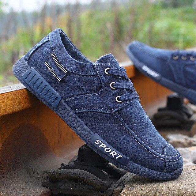 8ae3561f Diseñador de moda Para Hombre Zapatos de Lona Para Los Hombres Bajo Estilo  Cómodo Zapatos de