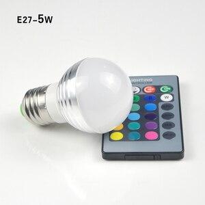 Image 3 - E14 E27 RGB LED ışık uzaktan kumanda ile ampul Bombillas LED lamba akıllı ampul AC 85V 265V ampul LED ampul 5W 7W