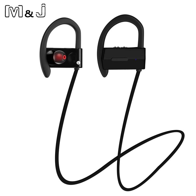 M & J Sports Wireless Bluetooth 4.1 Headphone Ear Hook Hifi Stereo - Audio dan video mudah alih - Foto 4