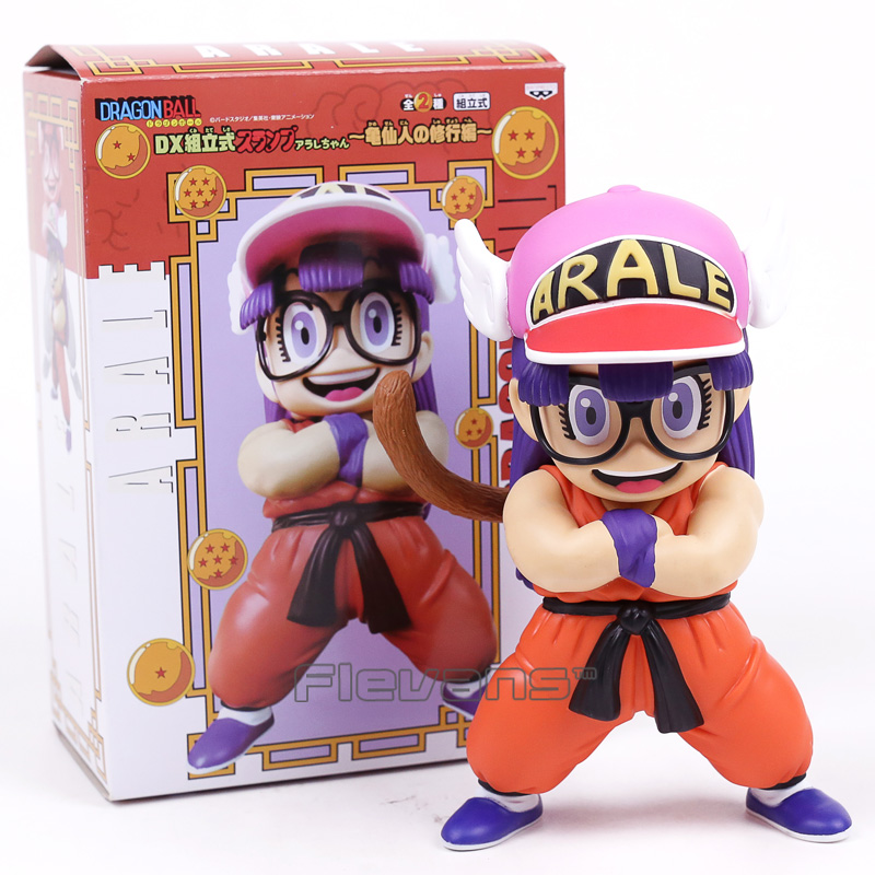 Dr.Slump Arale Cosplay Dragon Ball Z Son Goku Krillin Anime Cartoon Funny PVC Figure Collectible Model Toy 17~19m 2 Styles arale figure anime cartoon dr slump pvc action figure collectible model toy children kids gift 6 types