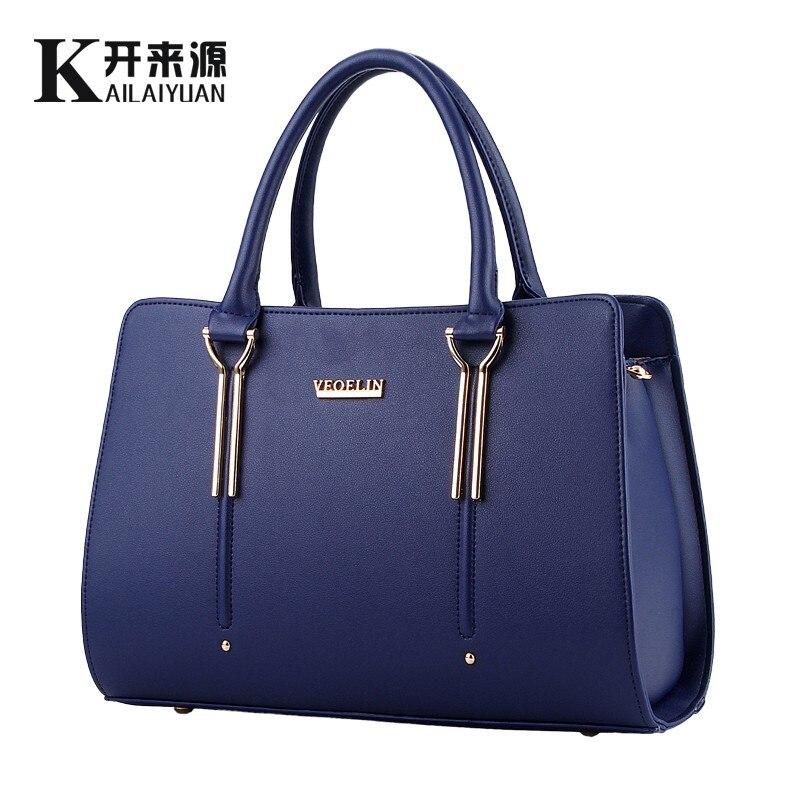 KLY 100% Genuine leather Women handbag 2017 New Sweet lady styling fashion  Cros