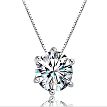 Big Cubic Zircon CZ Stone Silver Choker Chain Necklace for Women Wedding Party Fashion Jewelry