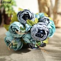 Luyue New Style Vintage European Peony Wedding Hi Q Silk Artificial Flowers Home Festival Decoration 13