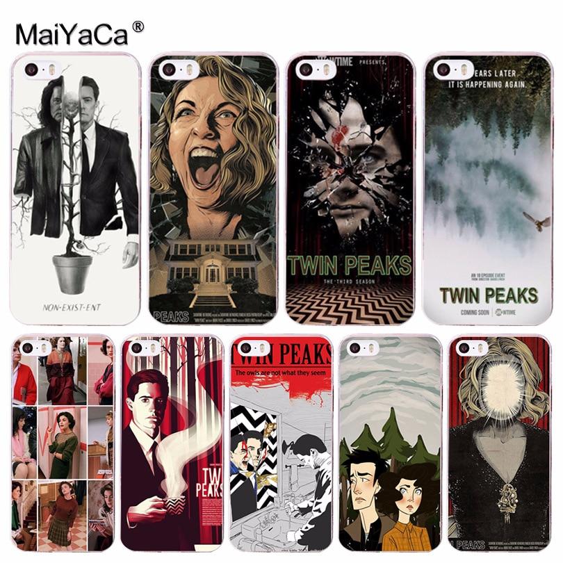 Maiyaca Твин Пикс ТВ show дизайн моды кожа тонкий ПК сотовый Чехол для Apple IPhone 8 7 6 6 S плюс X 5 5S SE 5C 4 4S мобильный Чехол
