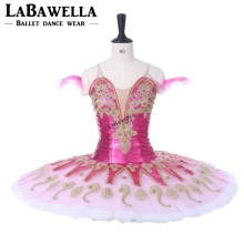 Child Professional Ballet Tutu Classical Adult Women Paquita Dark Pink Competitons Stage Costumes For Girls BT9134G