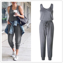 New Arrival Sexy Off Shoulder Sleeveless Lace Up Belts Jumpsuits Summer Women So