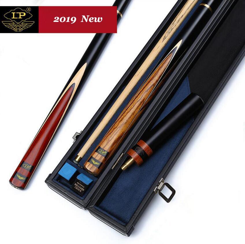 LP Ash hecho a mano 3/4 piezas Snooker Cue Kit Stick con buena funda con extensión 9,5/9,8mm 10mm palos de billar de Punta hechos en China