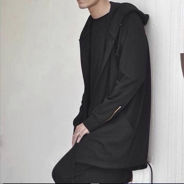 Jocestyle Новое поступление модные Для мужчин; кардиган с капюшоном Демисезонный с длинным рукавом Повседневное плащ пальто с капюшоном черный, белый цвет Верхняя одежда