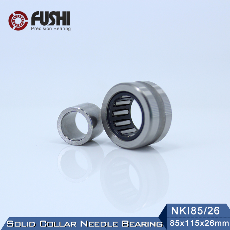 NKI85/26 Bearing 85*115*26 mm ( 1 PC ) Solid Collar Needle Roller Bearings With Inner Ring NKI 85/26 Bearing