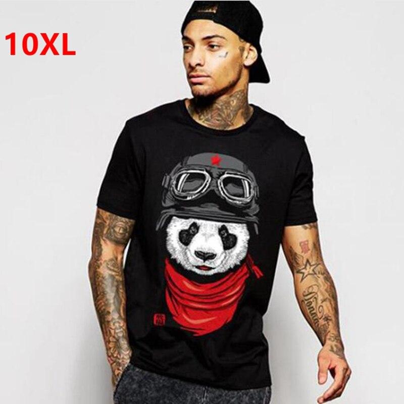 plus size fat clothing men's short-sleeve 8xl o-neck lycra cs