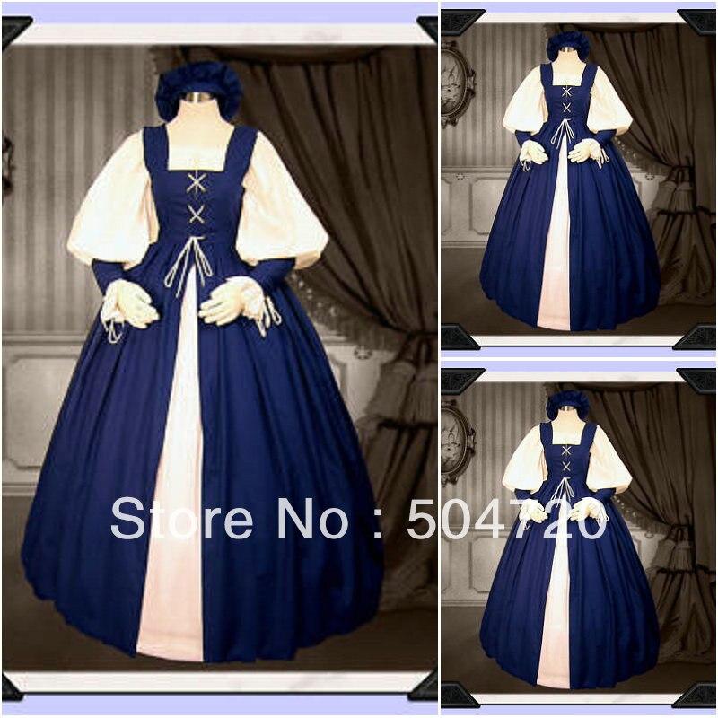 1860 S guerre civile sud Belle robe de bal robe/victorienne Lolita robes/scarlett robe Sz US 6-26 XS-6XL V-200