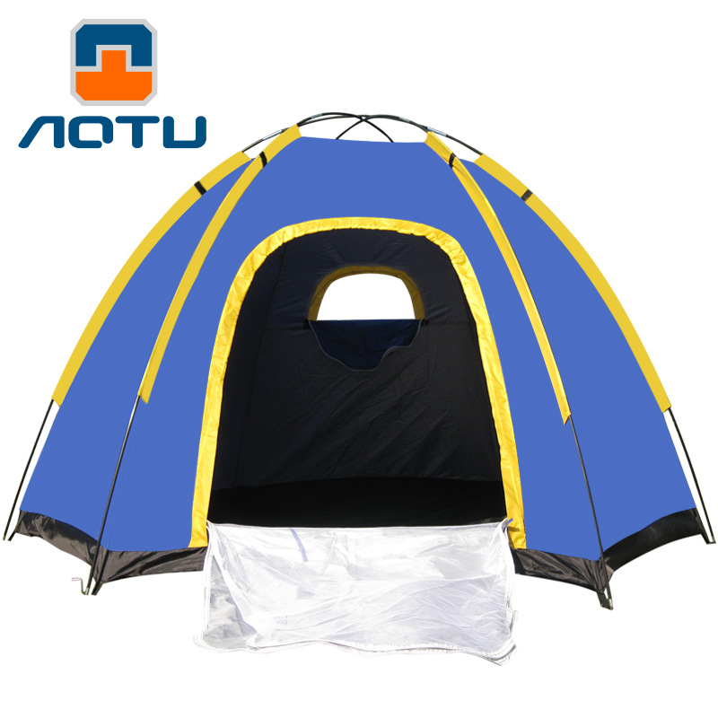 High Quality Waterproof Hiking Travel Camping Tents Outdoor Tent 3-4 People Tourism Tents At6503 Hexagonal 2014shepherd 3 4 people double deck high quality outdoor camping tent