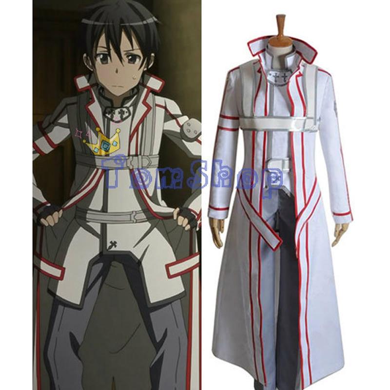 Sword Art Online (Alfheim Online) White Kirito Cosplay Uniform Suit Men