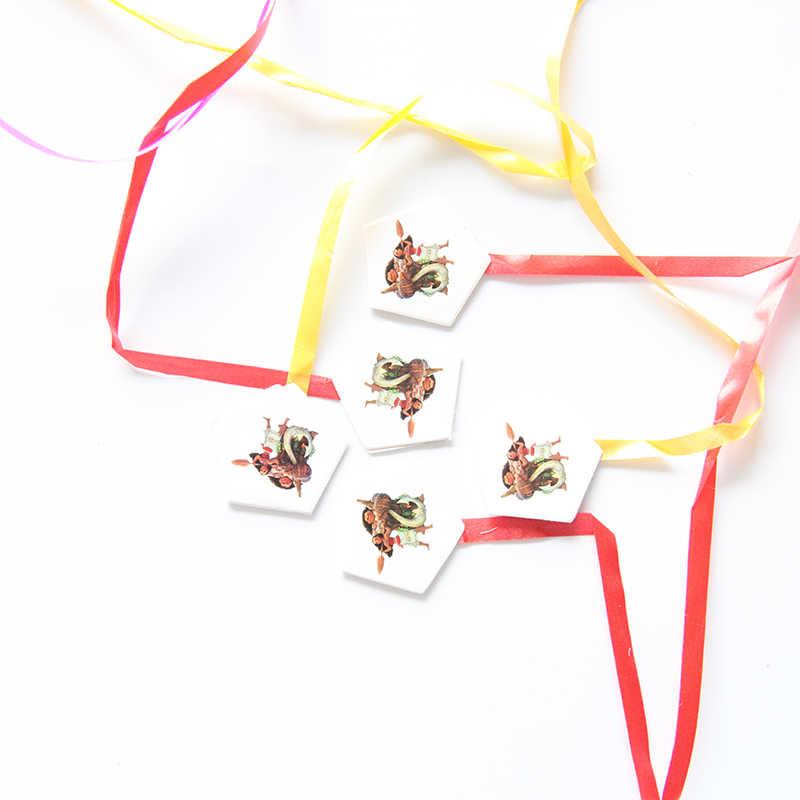 29*40cm Moana diseño de dibujos animados tema piñata de papel plegado niños partido juego juguetes cumpleaños fiesta decoración regalo bolsa Feliz cumpleaños Piñata