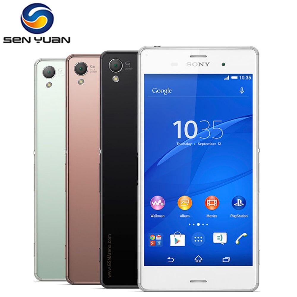 """Цена за Оригинальный Разблокирована Sony Xperia Z3 D6603 Мобильный Телефон четырехъядерный процессор 3 Г и 4 Г, WIFI, GPS 5.2 """"20.7MP 16 Г ROM 3 Г RAM Z3 сотовый телефон"""