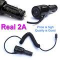 Real 2a adaptador de cargador de coche con micro usb cable para samsung s6 s5 s4 s3 nota para lg g4 g3 para android móvil, de carga Rápida