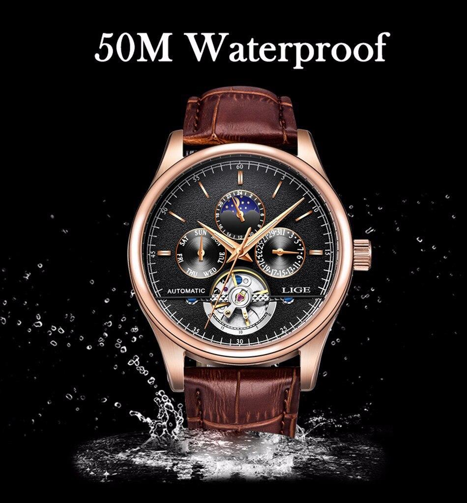 relógio de pulso à prova dwristwatch água + boi
