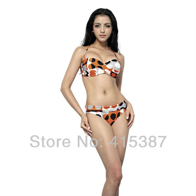 Free Shipping 2013 Fashion Hot Sale Summer  Women Female Super Sexy Bikini Solid Beautiful Flower Swimsuit Swimwear, YZ-162019