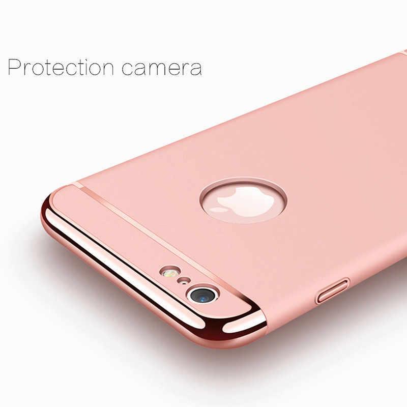 Oro di lusso Dura di Caso per il iPhone 7 6 6s 5 5s SE X Della Copertura Posteriore Xs Max XR 11 Pro Rimovibile 3 in 1 Caso per il iPhone 8 7 6 6s Più Il Sacchetto