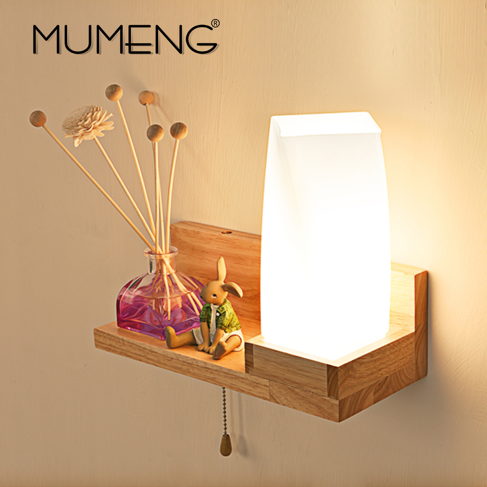 MUMENG Modern LED Creative Wall Lamp Nordic Style Indoor Lighing Bedroom Living Room E27 110V-240V Wall Sconce For Home Lighting modern bedroom bedside wall lamp e27 led creative mounted metal light sconce for living room hallway hotel home indoor lighting
