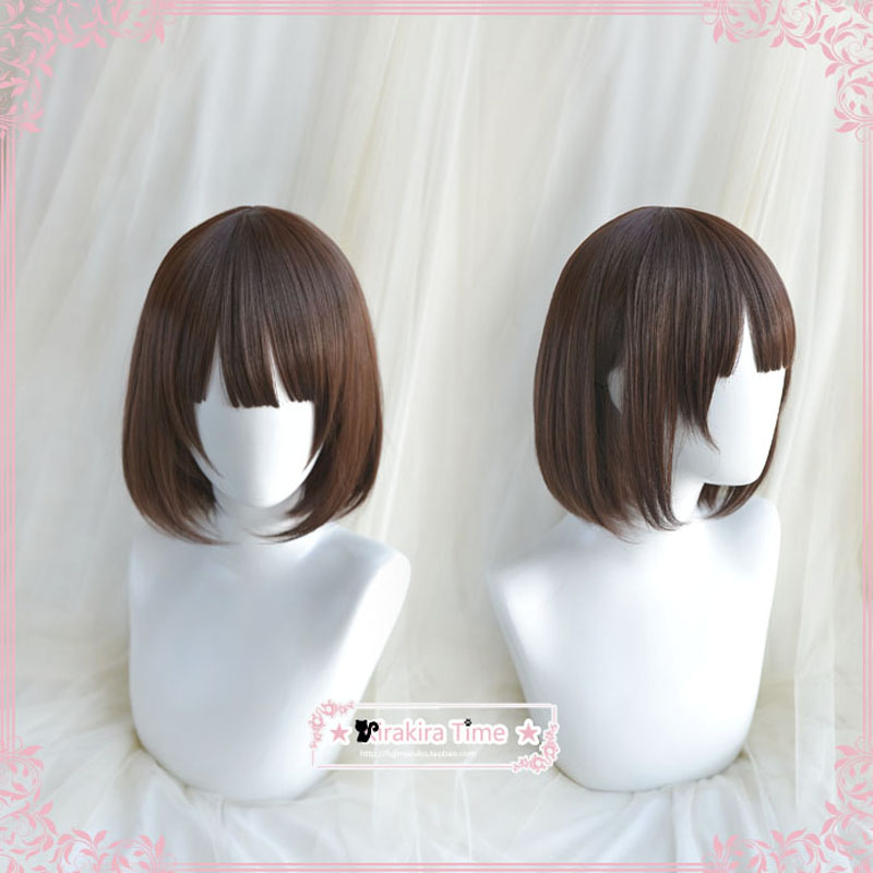 Anime Saenai heroine no sodate-kata Katou Megumi Cosplay Wigs Synthetic Brown Bobo Hair + Wig Cap