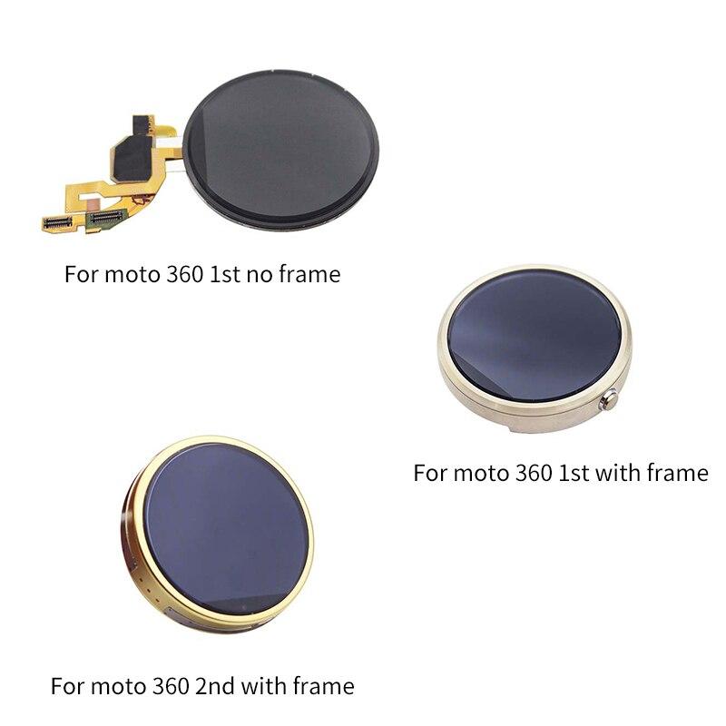 Netcosy para moto 360 1st 46mm display lcd + touch screen digitador assembléia peças de reparo para motorola 360 2 gen 42 46mm tela lcd