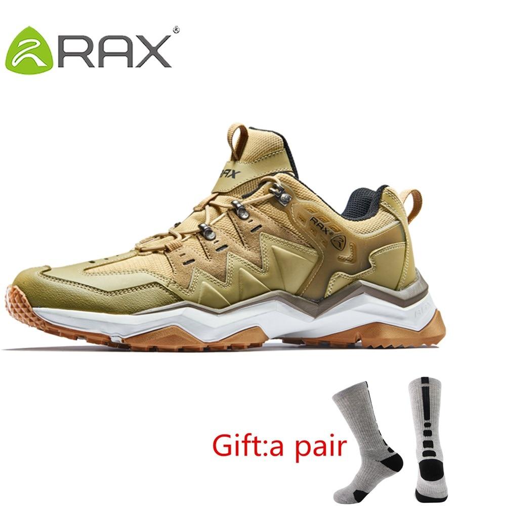 RAX Mens Waterproof Hiking Shoes Outdoor Multi-terrian Mountain Climbing Backpacking Trekking Sneakers Lightweight With Gift