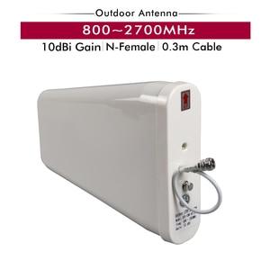 Image 3 - Tri bant güçlendirici 2G/3G GSM 900 + 3G UMTS/WCDMA 2100 + 4G FDD LTE 2600 cep telefon sinyal tekrarlayıcı cep sinyal amplifikatörü anten seti
