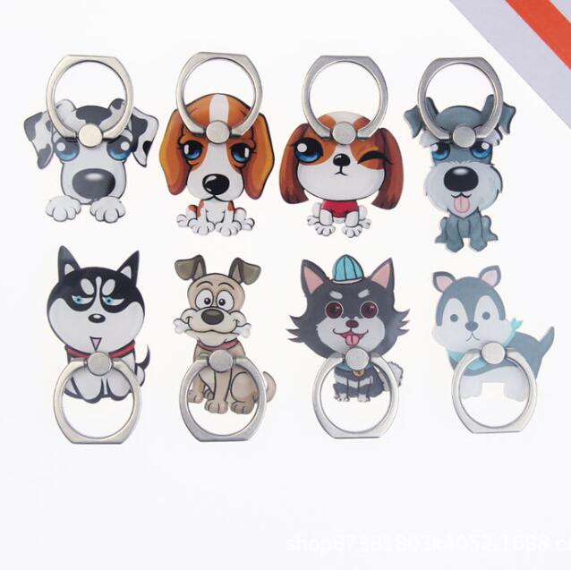 UVR 360 Degree Cartoon Dog Cute Finger Ring Smartphone Stand Holder Mobile Phone Holder For IPhone Huawei All Phone