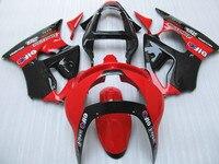 Kit de carenado de piezas de recambio para Kawasaki ZX6R 1998 1999 Rojo Negro carenados set ninja ZX6R 98 99 LF21