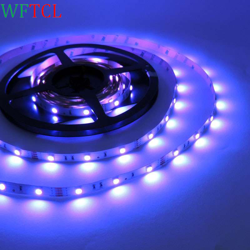 WFTCL DC12V Led Strips 5050 5M 150Leds RGB Non-Waterproof Flexible Led light Tape 7 Colors For Home Party Decoration Lights