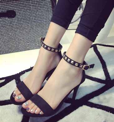 With Women Female 2015 Leather Sandals Professional Heeled High Thin 5Y5qwaxgO