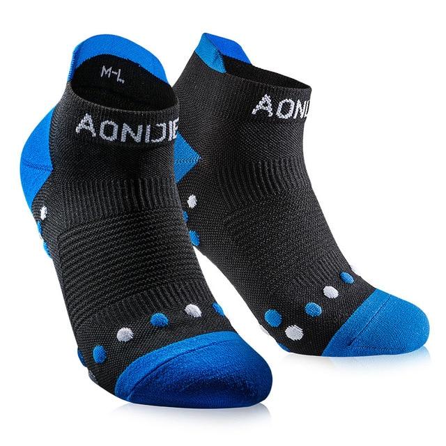 74b6f1af45 1 Pair AONIJIE Athletic Ankle Socks Men Women's Outdoor Hiking Sport  Running Cushioned Crew Massage Socks